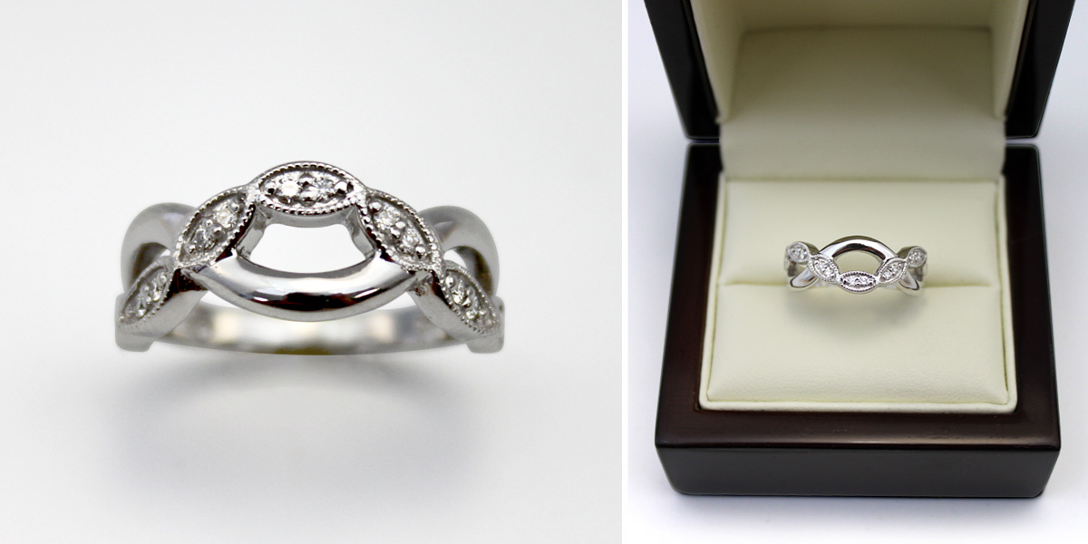 Custom Criss Cross Ring - Bentley Diamond