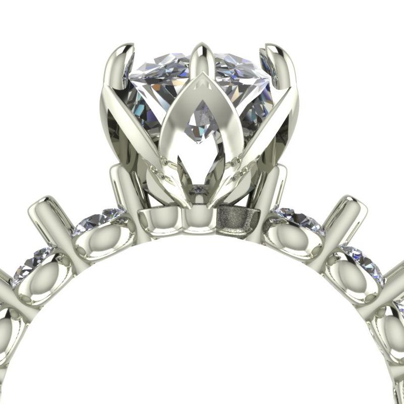 Oval Tulip Engagement Ring Rendering - Bentley Diamond