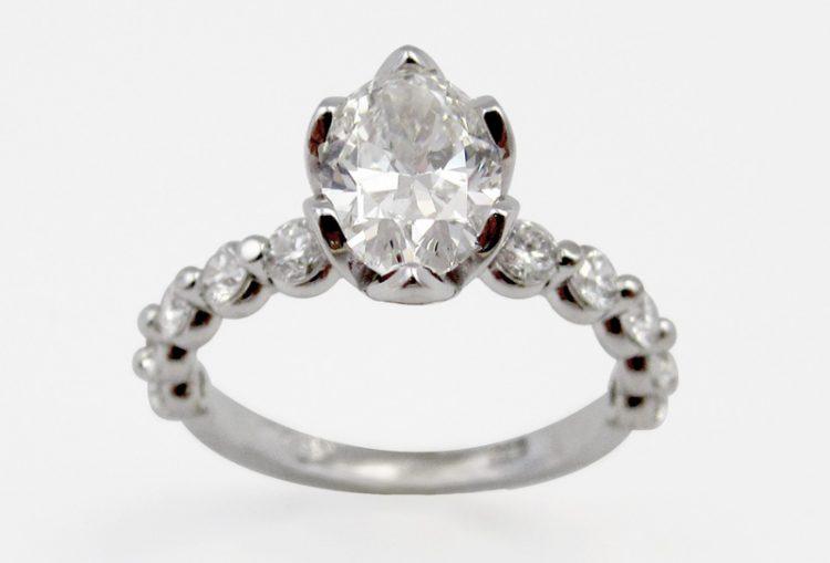 Oval Tulip Engagement Ring - Bentley Diamond