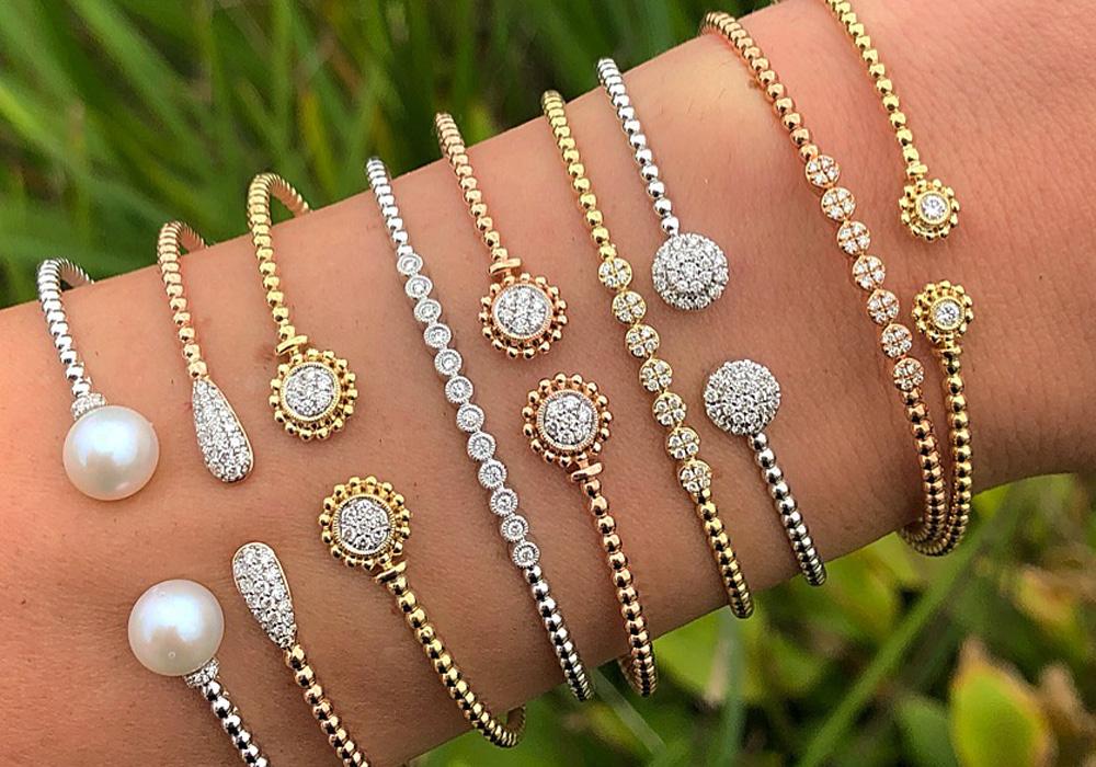 Bentley Diamond - Stackable Diamond Bracelets