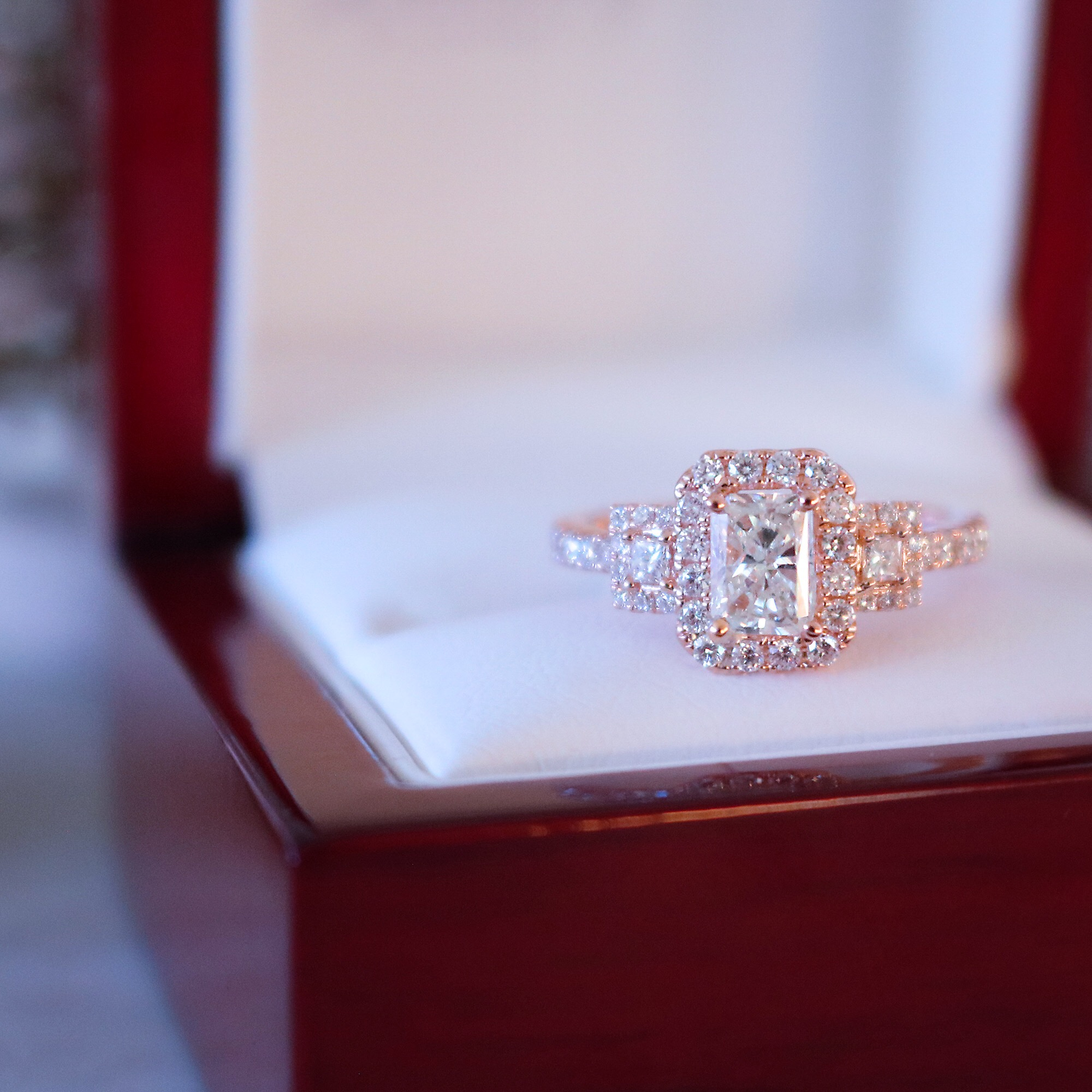Bentley Diamond - Rose Gold Diamond Ring