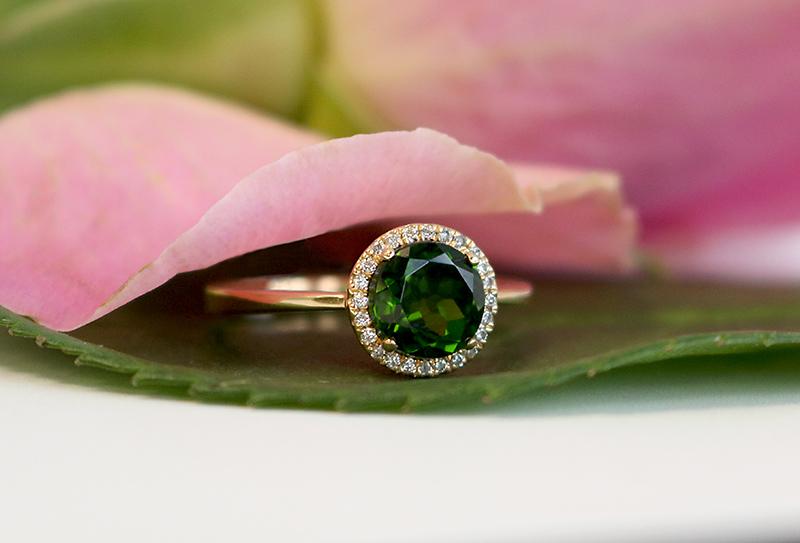 Bentley Diamond - Emerald Halo Ring