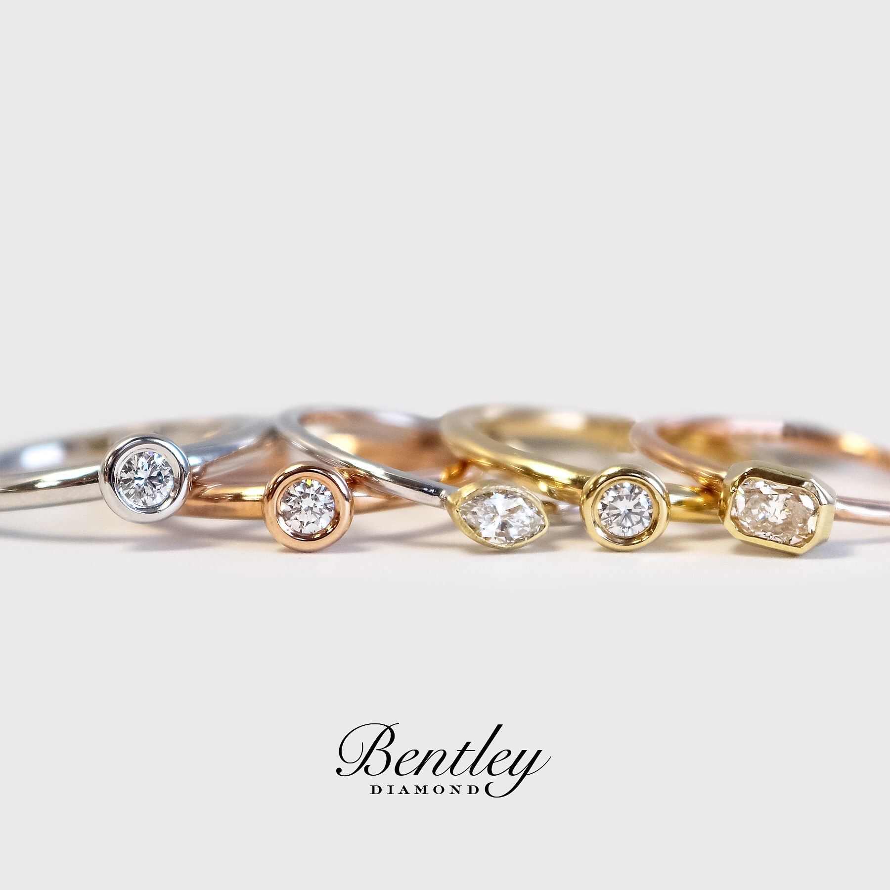 Diamond Bezel Rings
