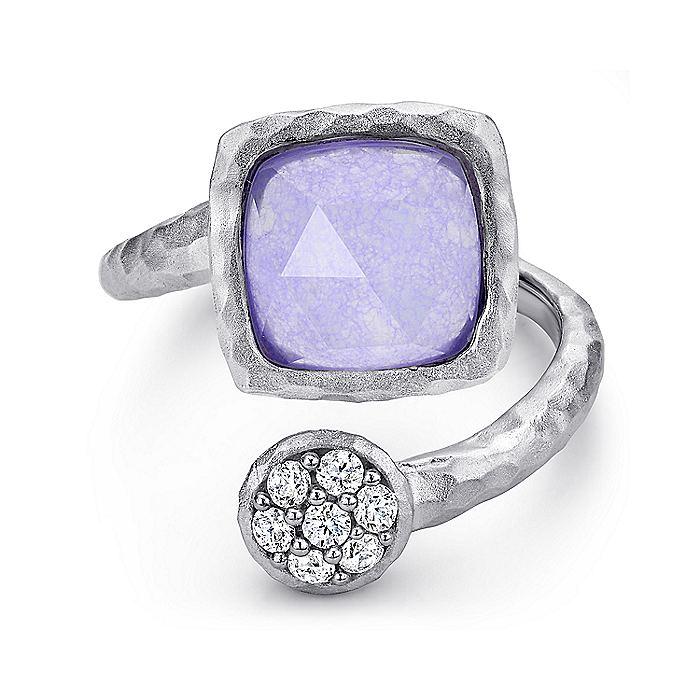 Gabriel-925-Sterling-Silver-Hammered-Multi-Color-Stones-Open-Wrap-Ring~LR50576SVJMC-1