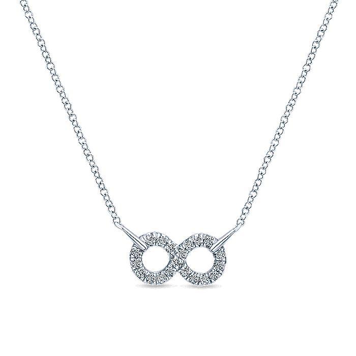 Gabriel-925-Sterling-Silver-White-Sapphire-Infinity-Symbol-Pendant-Necklace~NK4317SVJWS-1