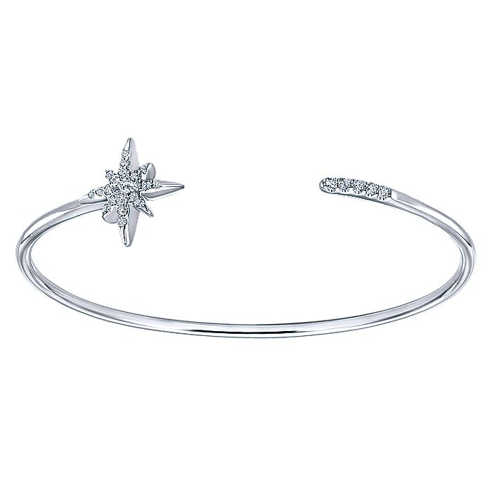 Gabriel-925-Sterling-Silver-White-Sapphire-Starburst-Open-Bangle~BG3831SVJWS-1